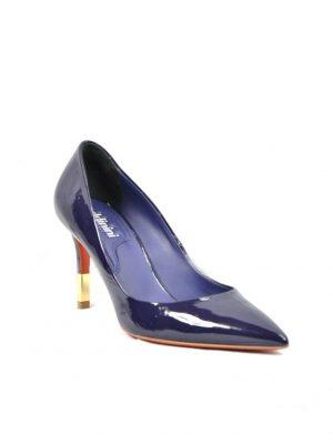 Туфли синие лаковые классические Baldinini