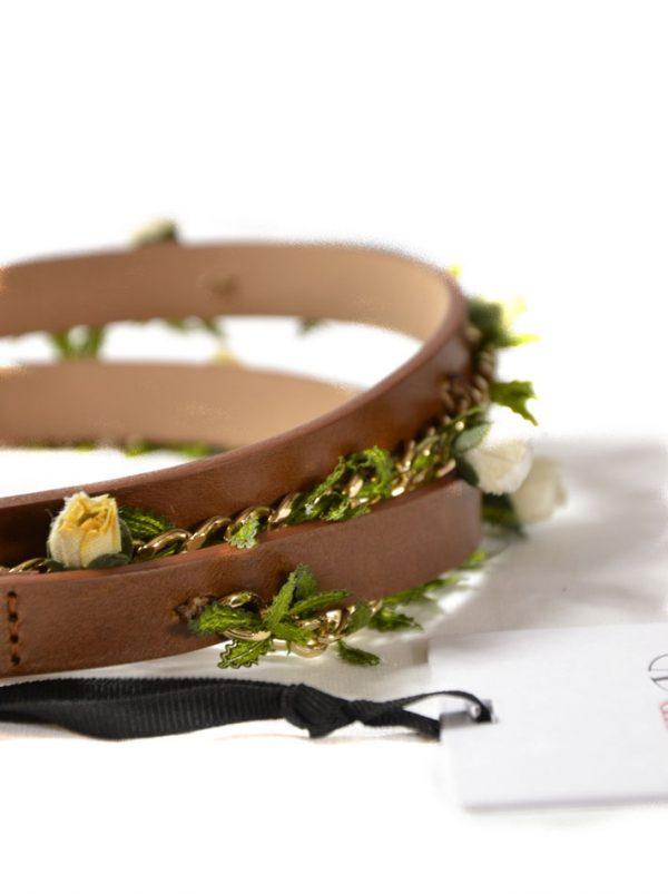 Пояс Red Valentino коричневый с цветами
