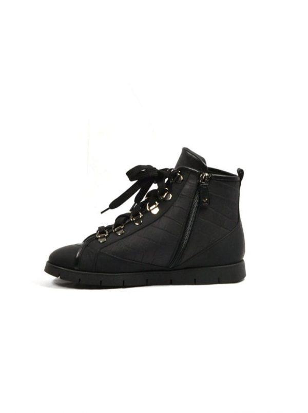 Ботинки Ballin черные кожаные