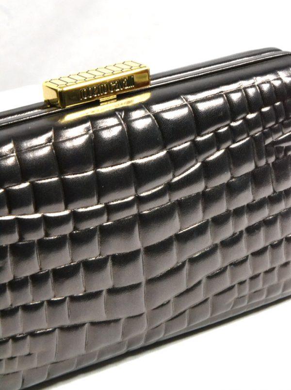 Клатч Class Cavalli черный кожаный