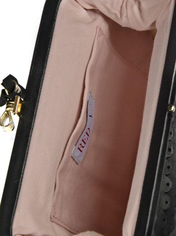 Клатч Red Valentino кожаный текстура чешуи
