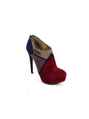 Ботинки Twice цветные на высоком каблуке