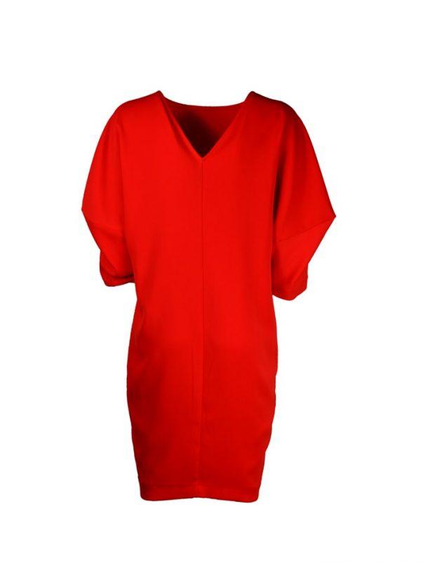 Платье Imperial красного цвета с вырезом