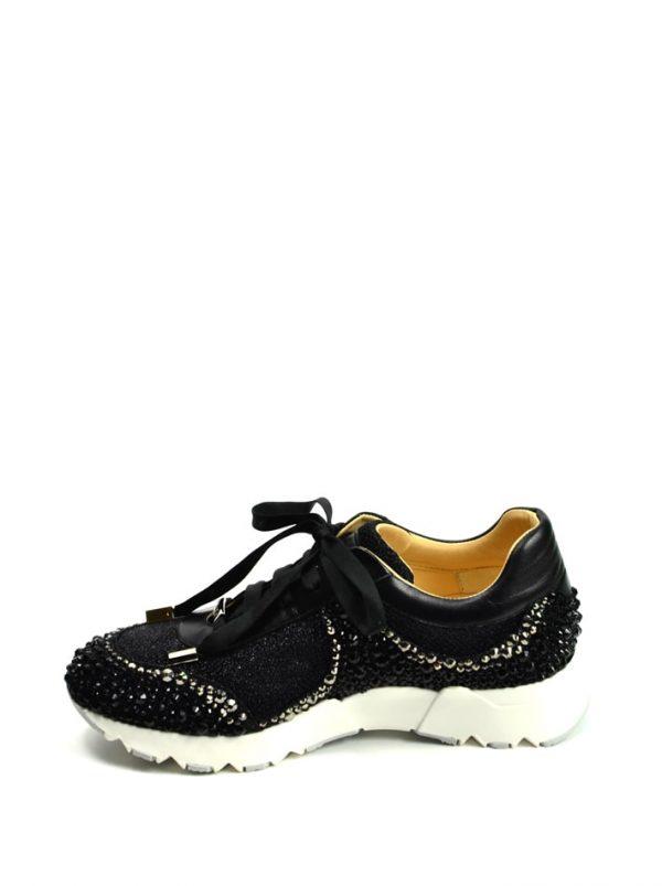Кроссовки Ballin с камнями и стразами на шнуровке