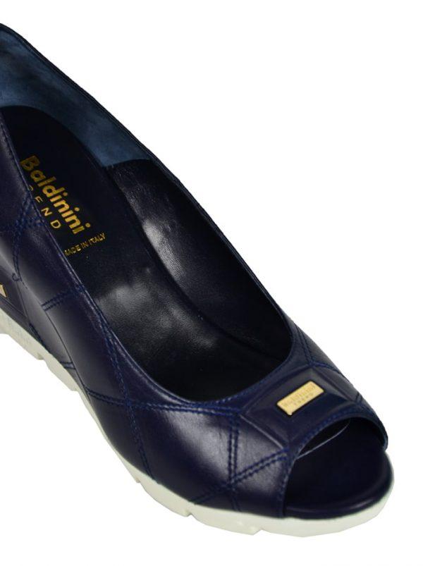 Туфли Baldinini на танкетке с золотистой пластиной