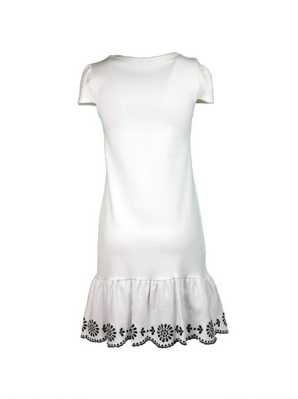 Платье Red Valentino белое с вышитыми цветами
