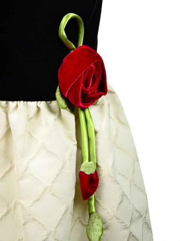 Платье Red Valentino с черным бархатом и розой