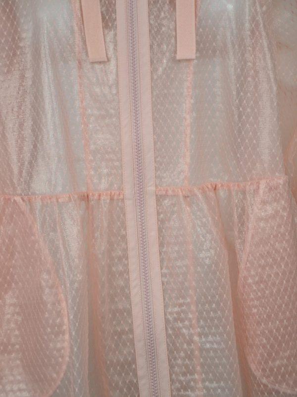 Плащ Red Valentino розовый прозрачный