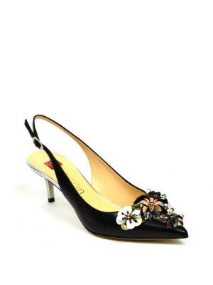 Туфли Ballin с оригинальными цветами с открытой пяткой