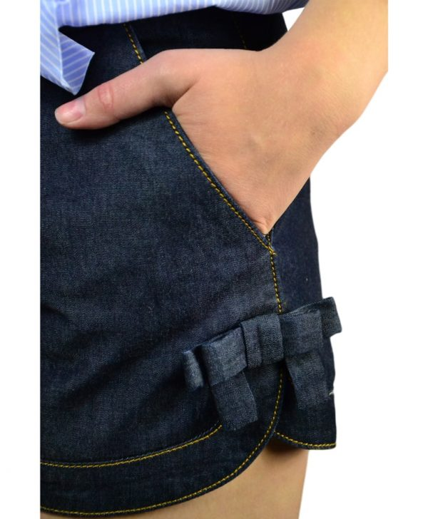 Шорты Red Valentino джинсовые с бантами