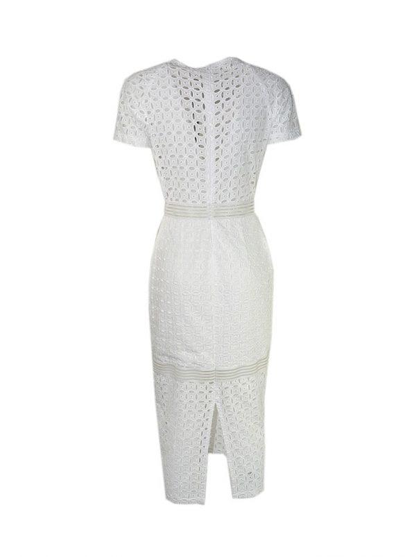 Платье Imperial белое кружевное на молнии