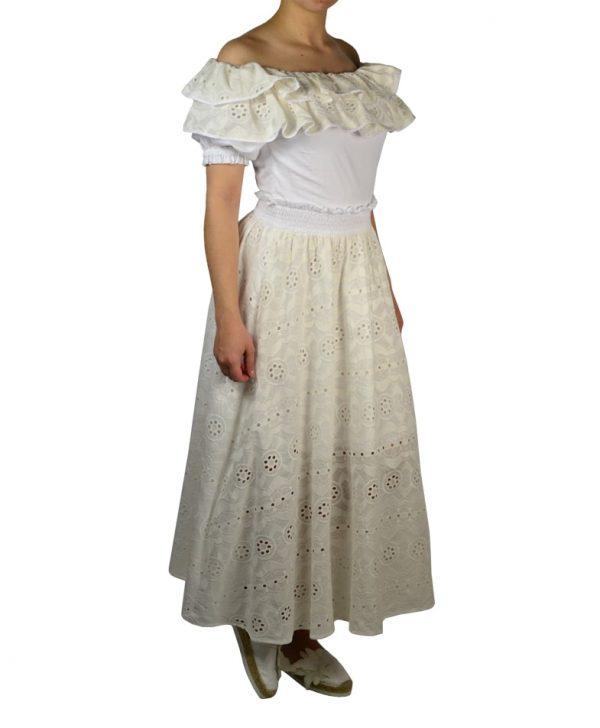 Платье Imperial белое кружевное