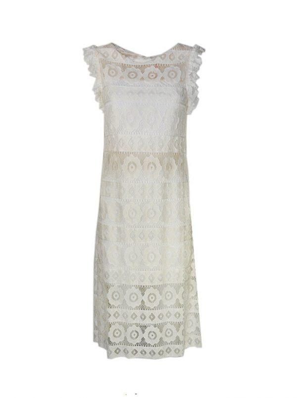 Платье Imperial белое с гипюром