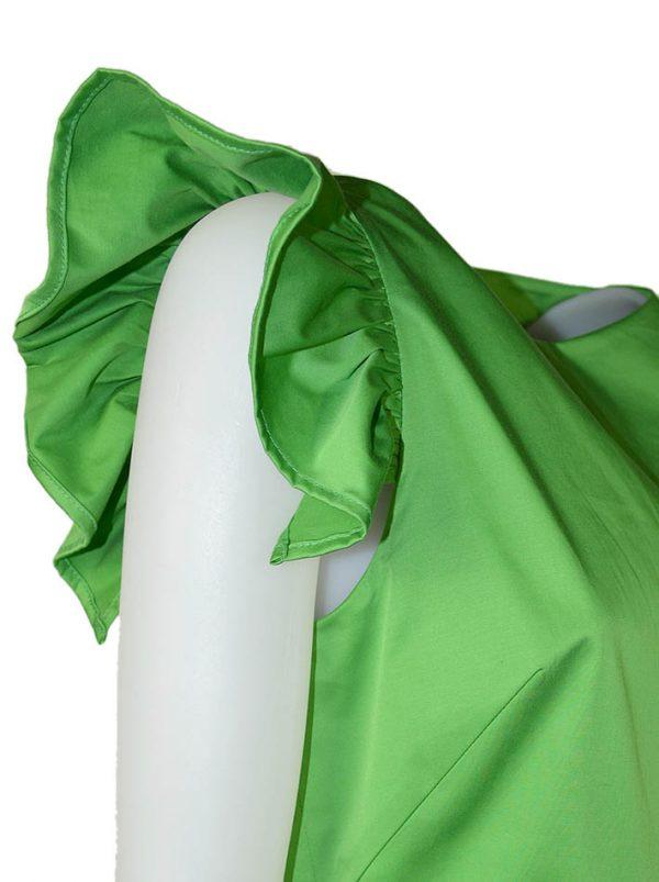 Платье Imperial зеленое с крылышками