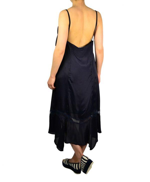 Платье Imperial темно-синего шелковое