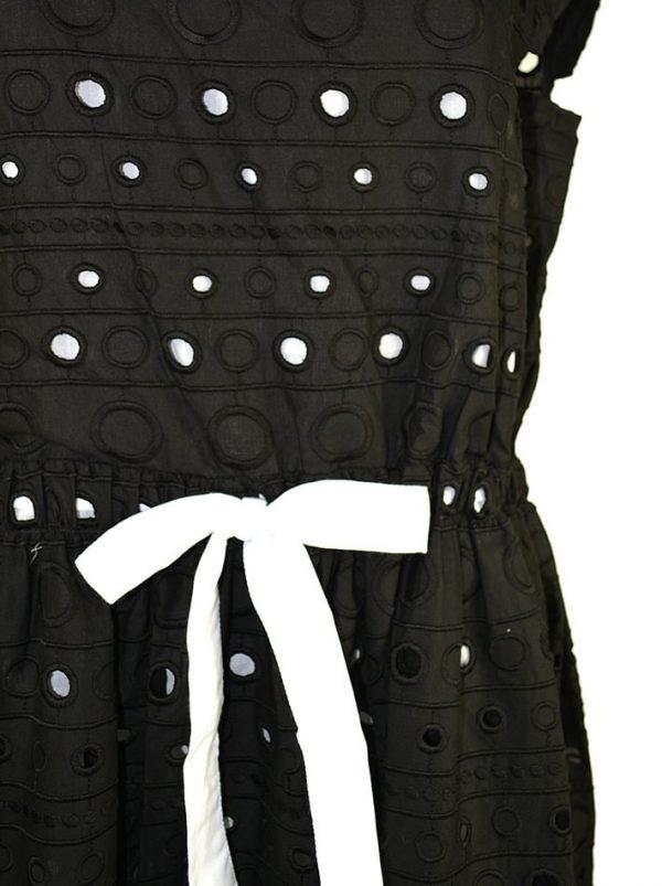 Платье Boutique Moschino кружевное с белым бантом