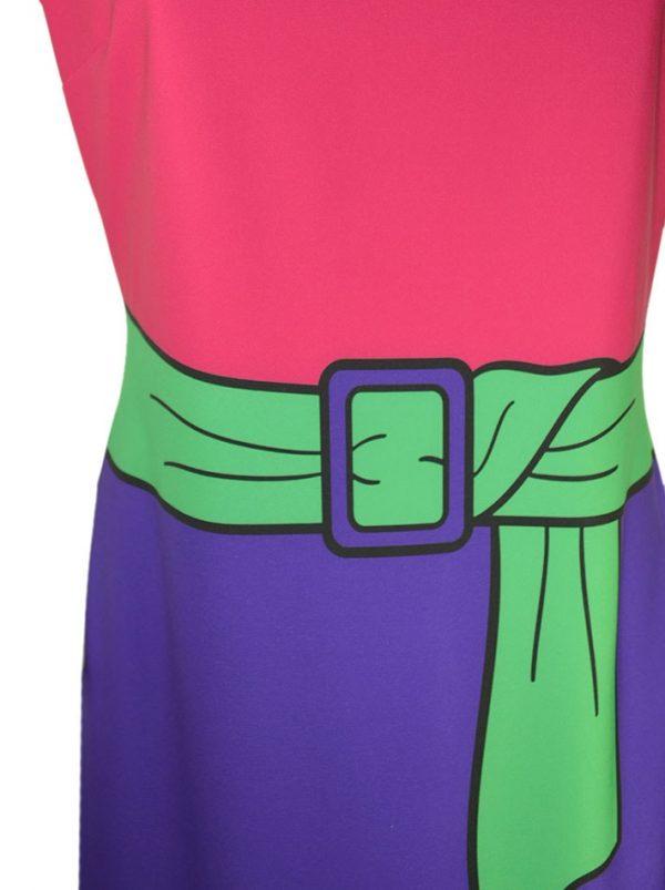 Платье Boutique Moschino с принтом в виде широкого пояса