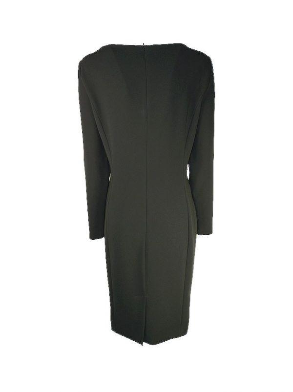 Платье Boutique  Moschino черное прямое с длинными рукавами