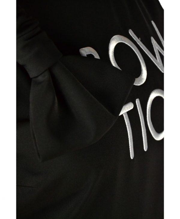 Платье Boutique Moschino черное с вышитой надписью