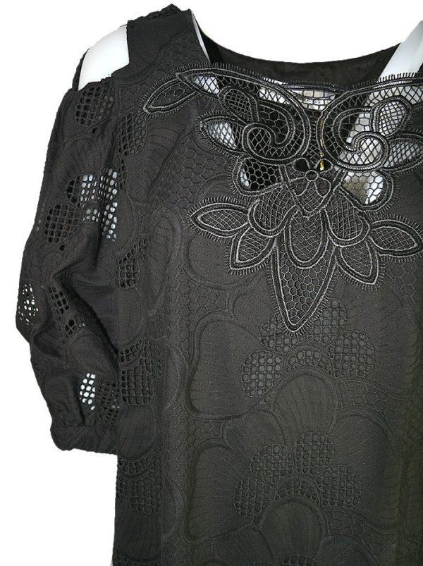 Платье Maria Grazia Severi кружевное с открытыми плечами