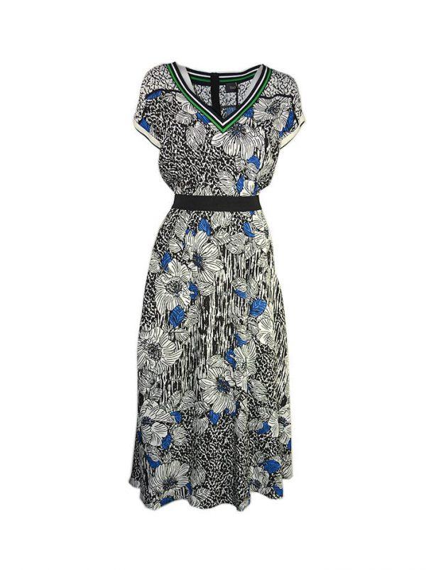 Платье Nolo вискозное разноцветным принтом