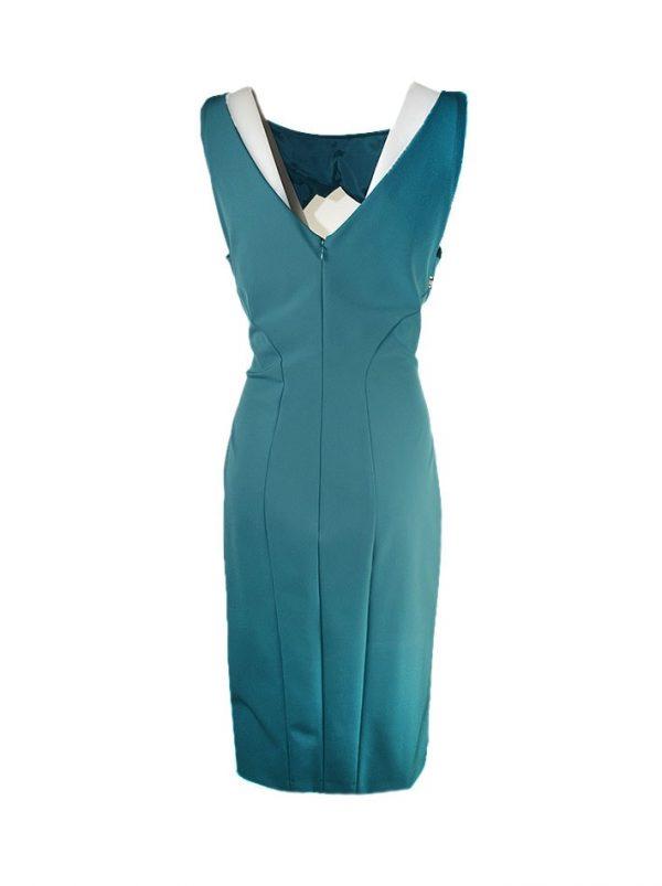 Платье Versace зеленое с замками на груди