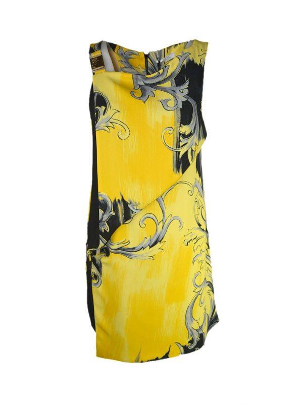 Платье Versace цветное с пряжками сбоку