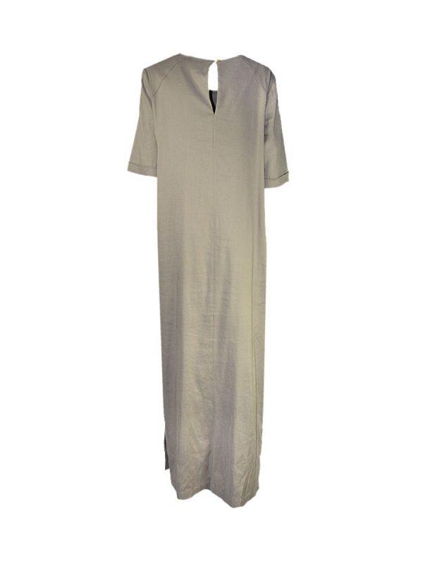 Платье Vuall льняное с разрезами по бокам