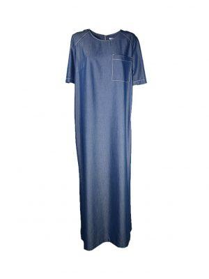 Платье Vuall прямое джинсовое с разрезами по бокам