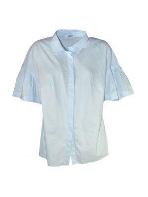 Рубашка Vuall хлопковая голубого цвета классическая