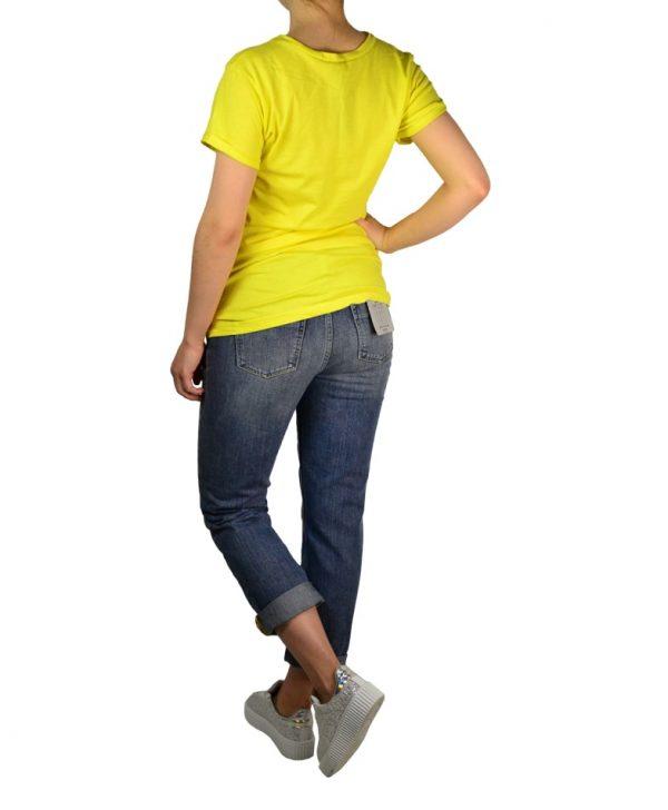 Футболка Amy Gee желтого цвета с принтом