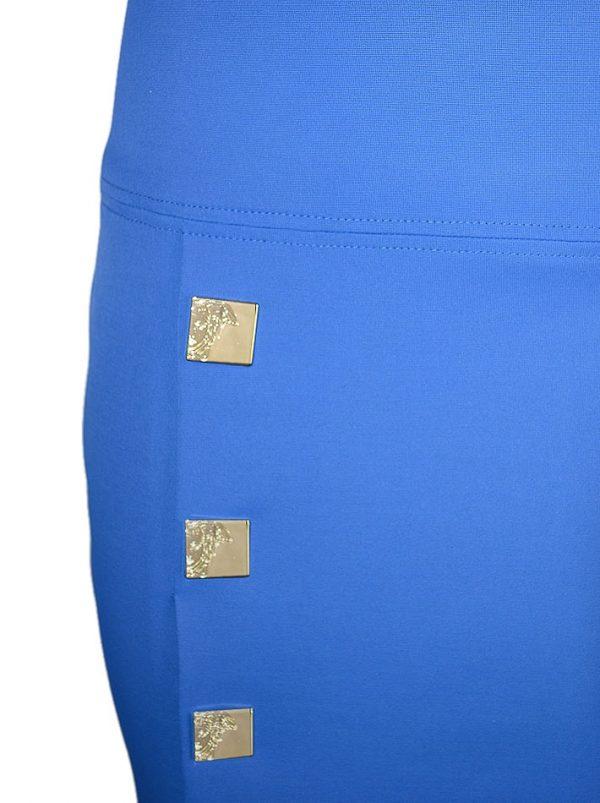 Юбка Versace синня классическая с золотыми клепками