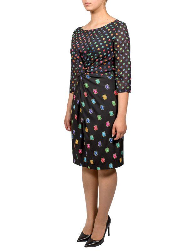 Платье Boutique Moschino черное с спринтом в виде камней