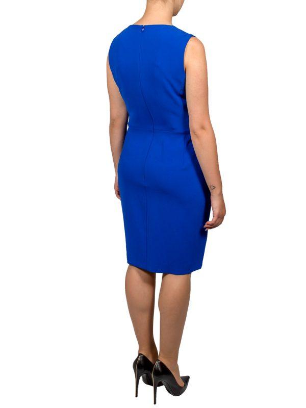 Платье Boutique Moschino синее с белой вышивкой