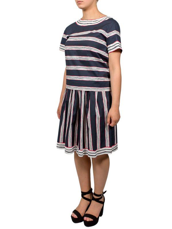 Платье Boutique Moschino темно-синее в белую полоску