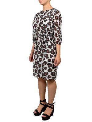 Платье Boutique Moschino c принтом в виде цветов шелковое