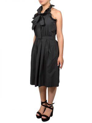 Платье Boutique Moschino черное с бантом и карманами