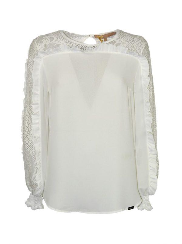 Блуза Babylon выполнена из хлопка с кружевом