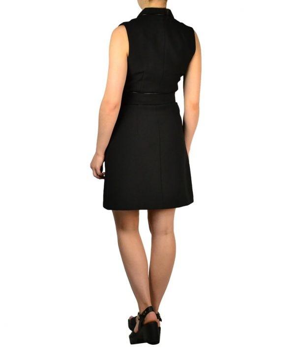 Платье-жилет W Les Femmes без рукавов с широким поясом