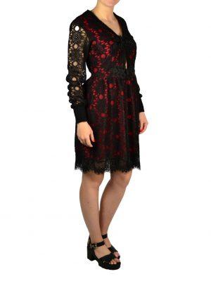 Платье Babylon кружевное с красной подкладой