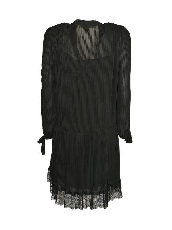 Платье Babylon с велюровым вырезом и металлическими клепками
