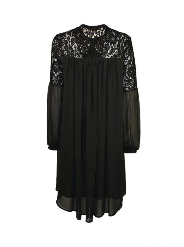 Платье Babylon черное свободного кроя с кружевом