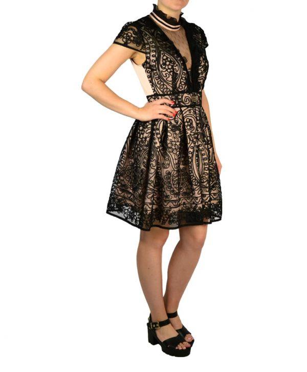 Платье W Les Femmes сеточкой с оригинальным кружевом