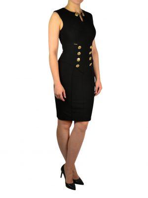 Платье W Les Femmes стрейч с золотыми пуговицами
