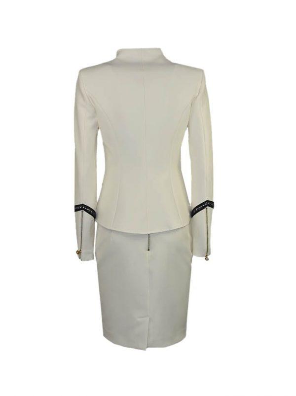 Юбка W Les Femmes белая классическая со шнуровкой