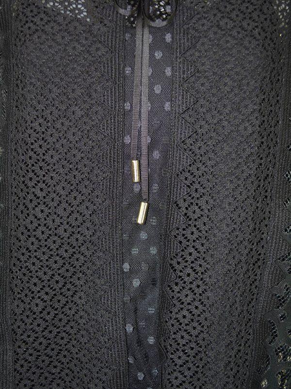 Кофта Maria Grazia Severi кружевная ворот и рукава велюр