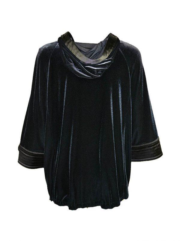 Кофта Maria Grazia Severi (Darling) черная бархатная