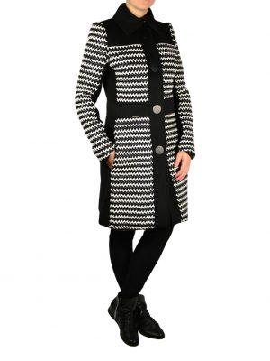 Пальто W Les Femmes плетеное на пуговицах
