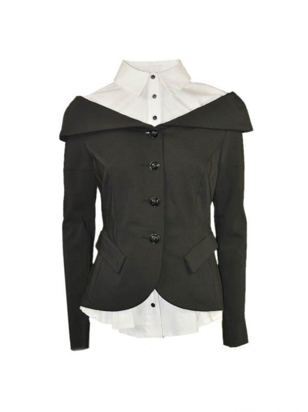 Пиджак Eureka c имитацией белой рубашки