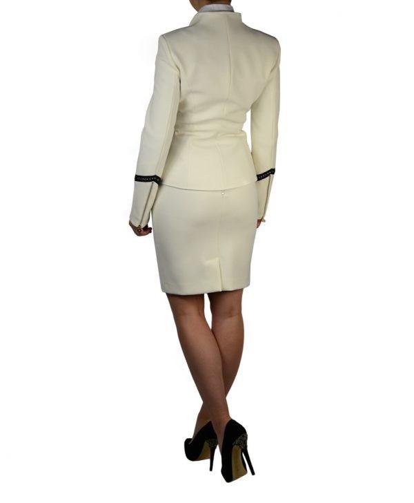 Пиджак W Les Femmes классический с кожаной тесьмой